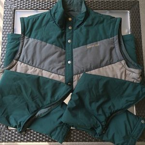 American Eagle Reversible Coat and Vest, Green